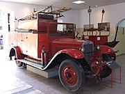 A Polish 1936-built Fiat 621 L fire truck in Warsaw, Poland