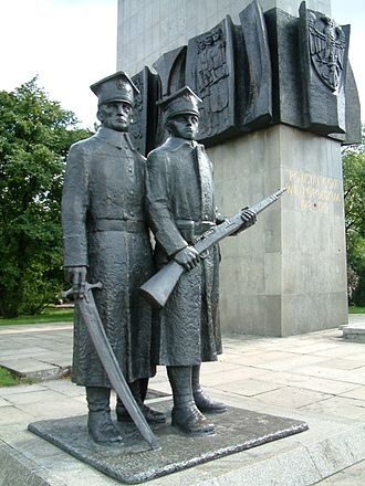 Greater Poland uprising (1918–19) - Monument commemorating Polish soldiers who fought in the Greater Poland Uprising of 1919