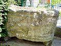 Pontoise (95), musée Tavet-Delacour, fonts baptismaux de Boissy-l'Aillerie, IVe ou Ve s..JPG