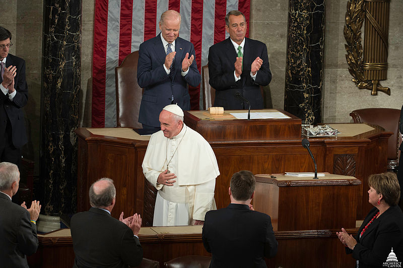 Pope Francis Visits the United States Capitol (22153720701).jpg
