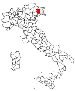 Location of Province of Pordenone