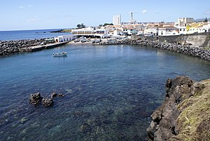 Lagoa, Azores - The sheltered cove of Porto dos Carneiros, the place that allowed the first settlers in Lagoa to settle and nurtured the nascent economy