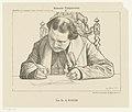 Portret van schrijvende Abraham Kuyper Bekende tijdgenooten (serietitel op object), RP-P-1907-3746.jpg
