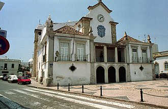 Olhão - The Chapel of Senhor dos Aflitos at the rear of the Church of Nossa Senhora do Rosário in the parish of Olhão
