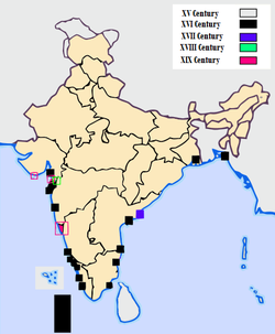 Portuguese India evolution. The State of India (Estado da Índia) in the 16th and 17th centuries also included possessions in all the Asian Subcontinents, East Africa, and in the Pacific