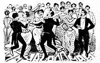 Posada, José Guadalupe (1852-1913), El baile de los 41 maricones - 1901, p. 1 dett.jpg