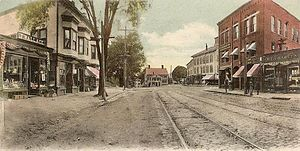 Reading, Massachusetts - Post Office Square c. 1905