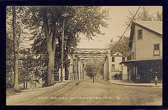 Winchester, New Hampshire - Image: Postcard Winchester NH Iron Bridge Circa 1910