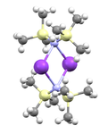 Ball and stick model of potassium bis(trimethylsilyl)amide dimer