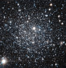 a spherical shaped group of a multitude of stars