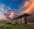 Poulnabrone Dolmen with Vibrant Cloudy Sky.jpg