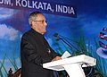 Pranab Mukherjee addressing the inaugural session of the International Conference of Accountancy Profession Emerging Frontiers of Future Growth, organised by the Institute of Chartered Accountants of India, in Kolkata.jpg