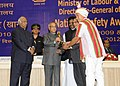 Pranab Mukherjee presented the 'National Safety Awards (Mines) for the year 2008, 2009 & 2010', at a function, in New Delhi. The Union Minister for Labour and Employment (1).jpg