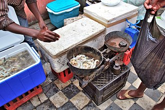 Xai-Xai - Image: Prawns at Xai Xai market