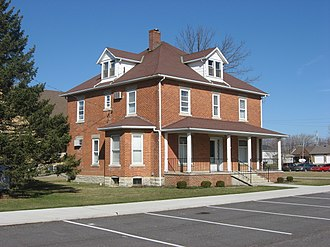 National Register of Historic Places listings in Mercer County, Ohio - Image: Precious Blood Rectory in Chickasaw front and southern side