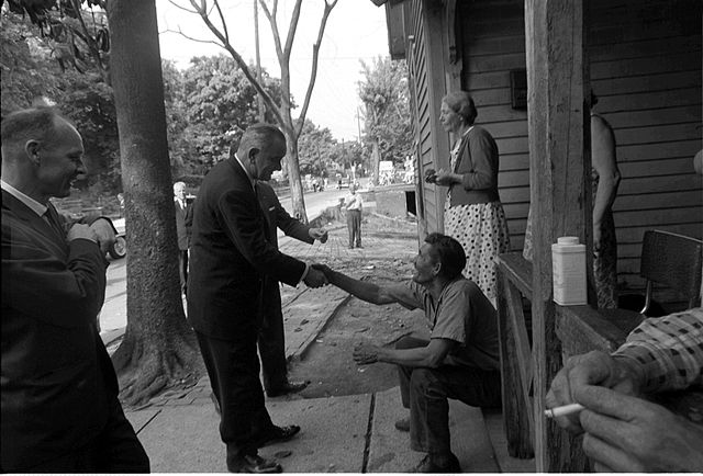 From commons.wikimedia.org: President Johnson poverty tour {MID-149333}