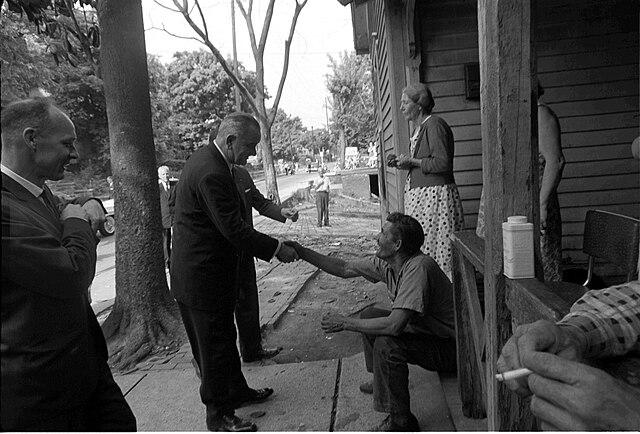 President Johnson poverty tour
