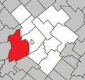 Princeville Quebec location diagram.png