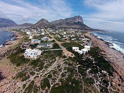 Aerial view of Pringle Bay.