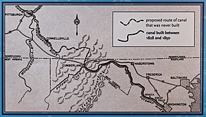Allegheny Mountains - Image: Proposed Map of C and O Canal