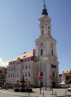 Prudnik Place in Opole Voivodeship, Poland