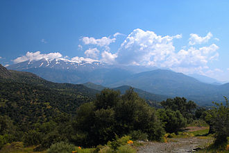 Mount Ida (Crete) - View of Psiloritis mountains from west