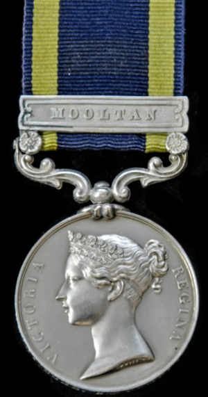 Punjab Medal - Image: Punjab Medal 1848 49 Obverse with clasp Mooltan