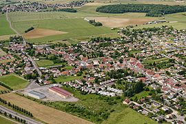 Aerial view of Pusey
