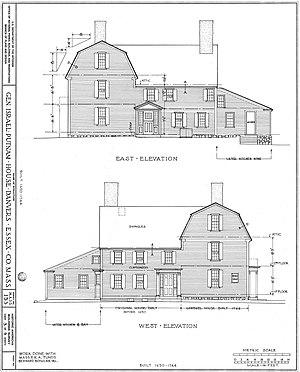 General Israel Putnam House - Image: Putnam House east and west elevations