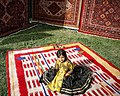 Qashqai handmade gabbeh rug, registration celebration, Afif-Abad Garden, Shiraz - 24 April 2018 01.jpg