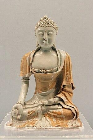 Qingbai ware - Buddha statue, Jingdezhen, 1271-1368