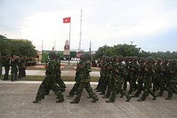 Quân đội duyệt binh ở Trường Sa