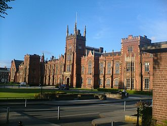 Queen's University of Ireland - The main building of Queen's College Belfast, named after its designer, Charles Lanyon, and built in 1849