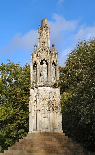 Delapré Abbey - The Eleanor Cross, in the present grounds
