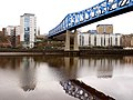 Queen Elizabeth II Metro Bridge from the Gateshead bank (geograph 2734233).jpg