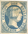 Queen Isabella II (2 reales stamp with colour error) - The Tapling Collection (1851) - BL.jpg