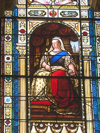 Parliament House, Brisbane - Queen Victoria stained glass window
