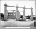 Queensland State Archives 3717 South approach reinforced concrete tie beams between capitals of piers Brisbane 18 November 1936.png