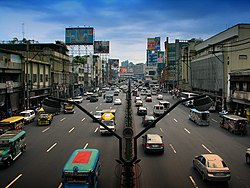 Quezon Boulevard near Quiapo Church