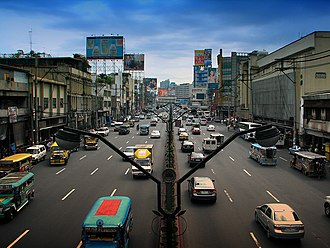 Quiapo, Manila - Quezon Boulevard near Quiapo Church