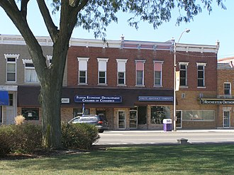 Rochester Downtown Historic District - Image: RHD 800 Block Main Street P9270561