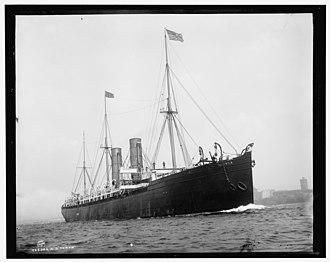 SS Servia - Servia underway