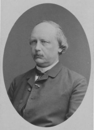 Johanne Agerskov - Danish inventor, Rasmus Malling-Hansen, father of Johanne Agerskov. Photo from 1887