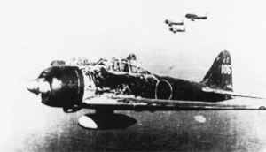 Drop tank - A6M3 Model 22, flown by Japanese top ace Hiroyoshi Nishizawa over the Solomon Islands, 1943