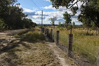 Darling Downs-Moreton Rabbit Board fence - Looking along the Rabbit Fence