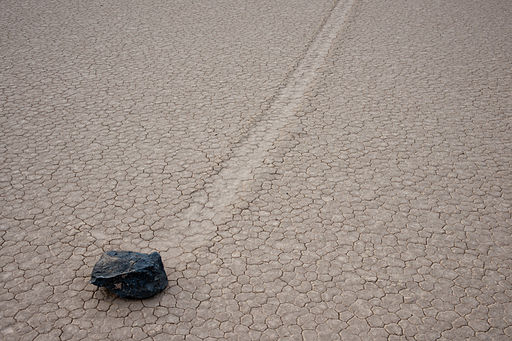 Racing rock at Racetrack Playa, 2011
