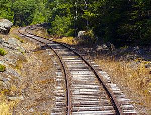 "Reverse curve - Railroad reverse (""S"") curve."