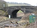 Railway bridge at entrance to Tarmac's Tunstead quarries - geograph.org.uk - 1778321.jpg