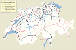 Swiss railway network