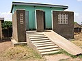 Raised ecosan latrine (UDDT) with ramp (Uganda) (5567632430).jpg